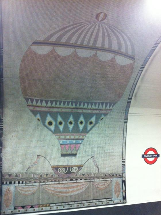balloon mosaic Finsbury Park