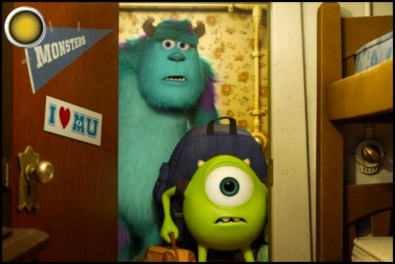 Monsters University yellow light