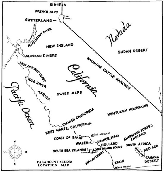 Paramount map of California 1927