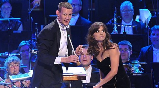 Matt Smith Jenna-Louise Coleman BBC Doctor Who Proms