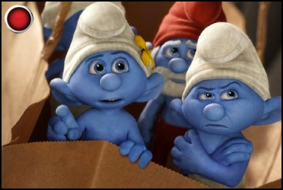 The Smurfs 2 red light