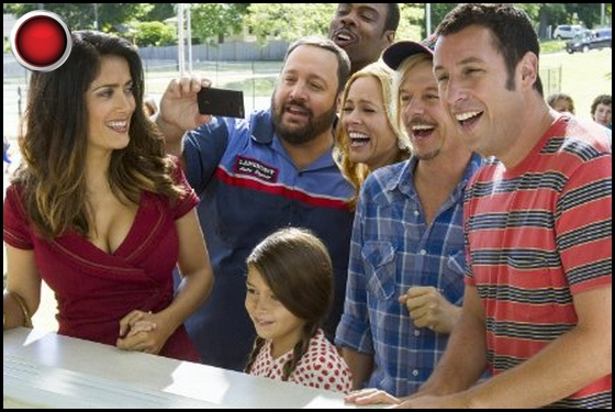 Grown Ups 2 red light Salma Hayek Kevin James Maria Bello Chris Rock David Spade Adam Sandler