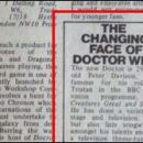 Doctor Who thing: the announcement of a new Doctor didn't used to be a big deal