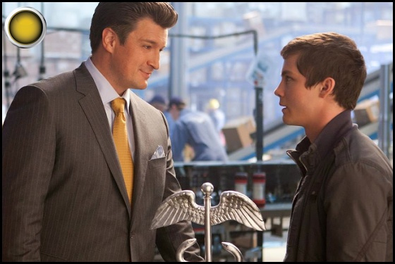 Percy Jackson Sea of Monsters yellow light Nathan Fillion Logan Lerman