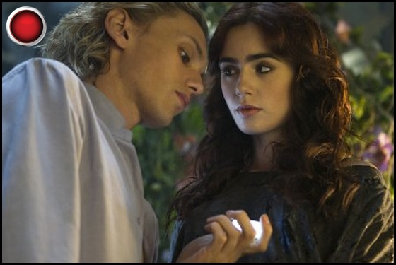 Mortal Instruments City of Bones red light Jamie Campbell Bower Lily Collins