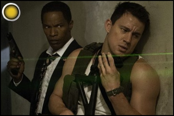 White House Down yellow light Jamie Foxx Channing Tatum