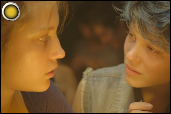 Blue Is the Warmest Color yellow light Adèle Exarchopoulos Léa Seydoux