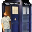 Doctor Who thing: cardboard cutout TARDIS for the geek who already has everything else