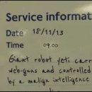Doctor Who thing: Yeti menace on the Underground today!