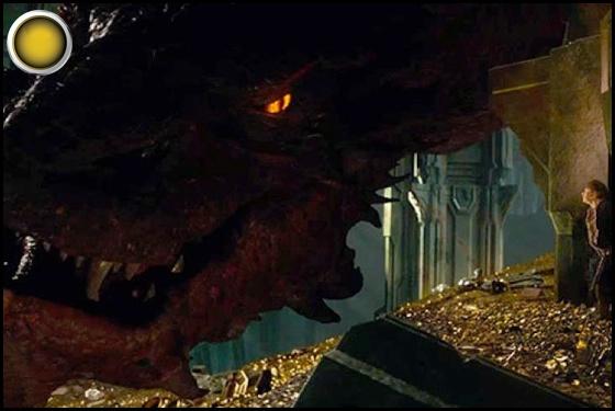 The Hobbit The Desolation of Smaug yellow light