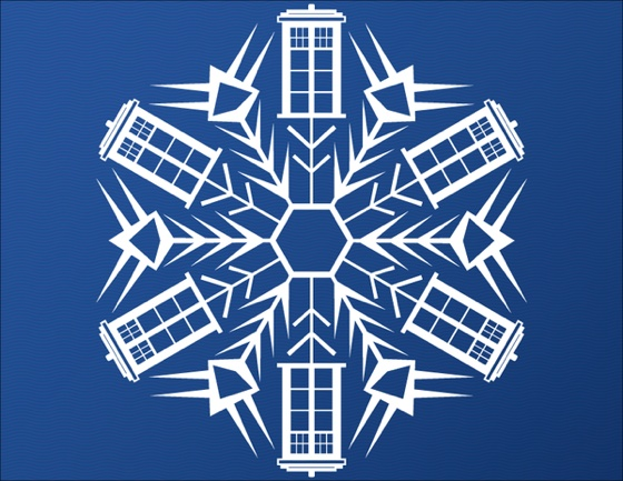 doctor who thing  pretty tardis paper snowflakes