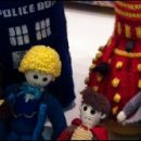 Doctor Who thing: because the yarn was crying out to be shaped into a Dalek
