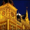 Amsterdam photo of the day: Central Station at night