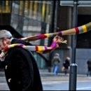 Doctor Who thing: 20-foot scarf in the wind