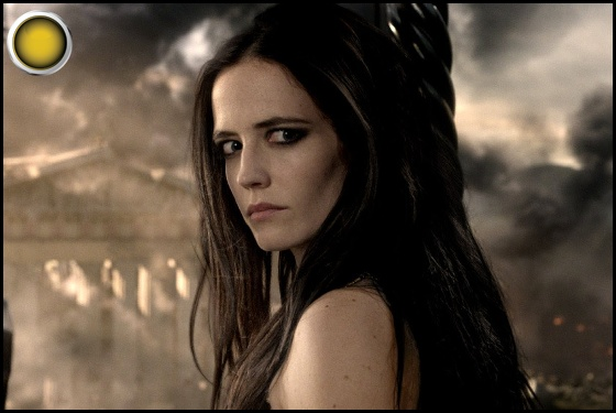 300 Rise of an Empire yellow light Eva Green