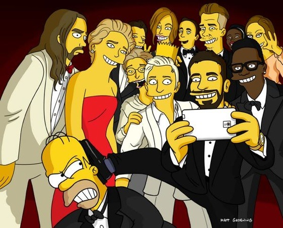 simpsonsoscarselfie