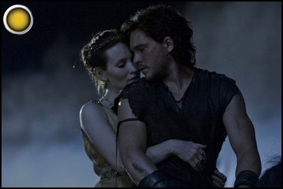 Pompeii yellow light Kit Harington Emily Browning