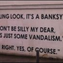London photo: tweaking Banksy's critics