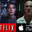 what's on iTunes, Amazon UK Instant Video, blinkbox, Netflix UK, BBC iPlayer (from Jul 07)