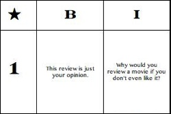 film review comment bingo (updated for 2017!)