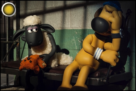 Shaun the Sheep Movie yellow light