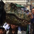 London photos: dinosaur on the loose in Leicester Square!