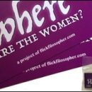get yer Where Are the Women? lapel pins and postcards