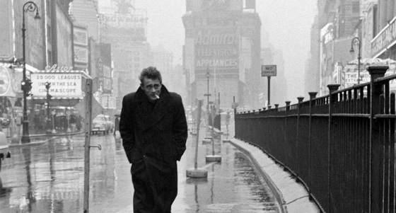 The real James Dean photographed by the real Dennis Stock in 1955.