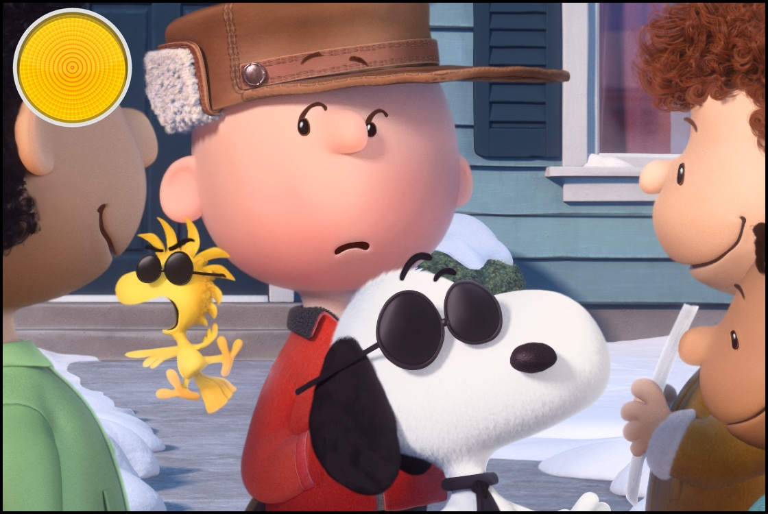Snoopy and Charlie Brown The Peanuts Movie yellow light