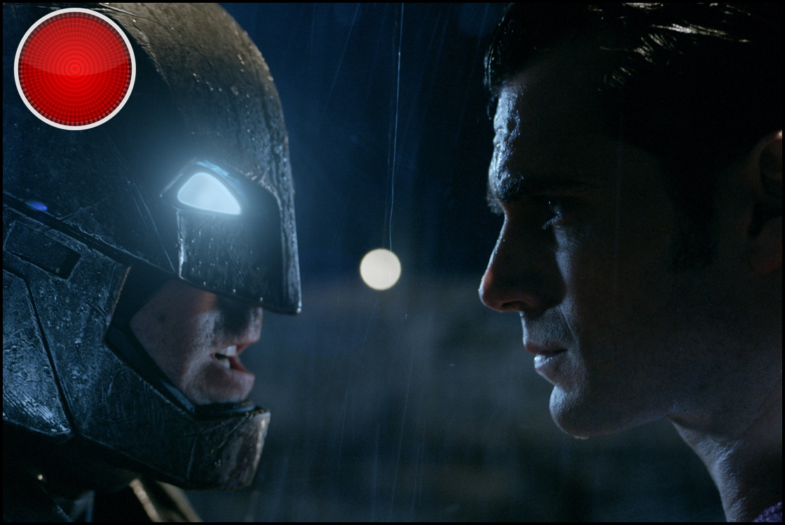 Batman v Superman Dawn of Justice red light