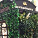 London photo: green phone box