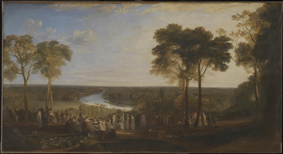 England: Richmond Hill, on the Prince Regent's Birthday exhibited 1819 by Joseph Mallord William Turner 1775-1851