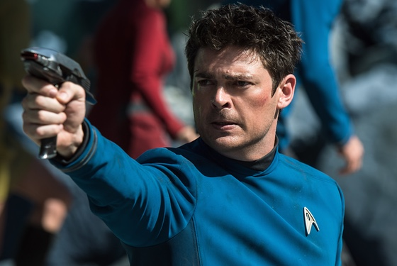 Gonna click my heels and jump for joy: Karl Urban nails down his Doctor McCoy.