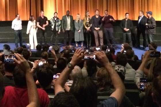 David Ayer to critics at this advance screening: 'Go fuck yourselves' [paraphrased].