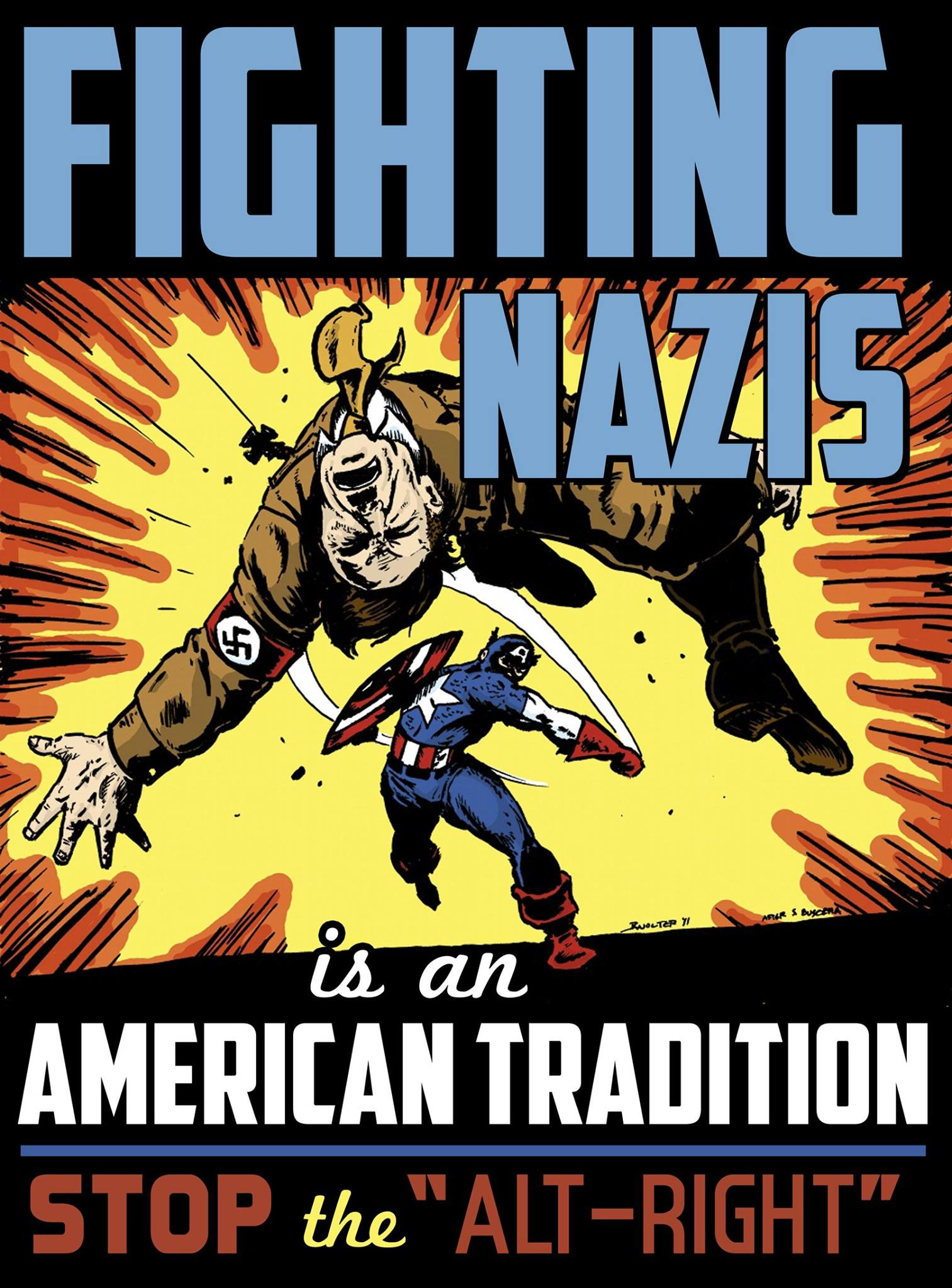 "Fighting Nazis is an American tradition. Stop the ""alt-right""!"