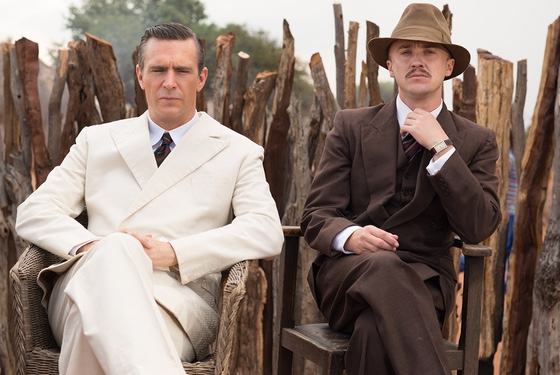 The sourpuss faces of British colonialism and bigotry (as portrayed, again, by Jack Davenport and Tom Felton).