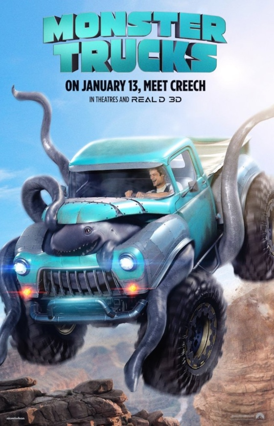 Monster Trucks Movie Review What A Car Tastrophe
