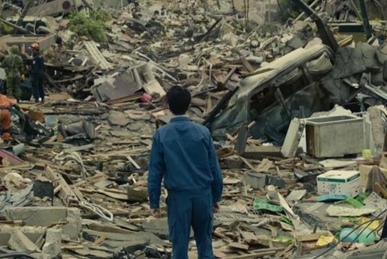 Tsunami damage, or kaiju aftermath?