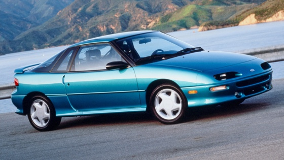 General Motors' Geo Storm, produced from 1990 to 1993. Also a disaster.