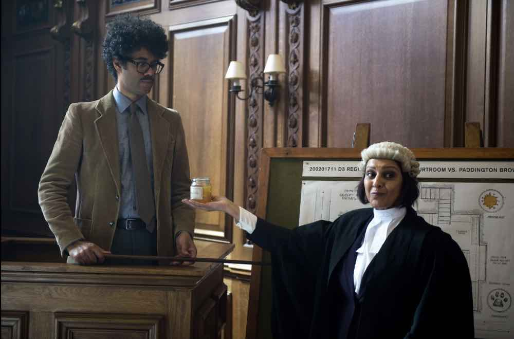 Noted marmalade forensics expert Richard Ayoade testifies at the trial of Paddington Brown.