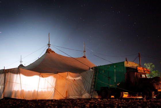 Movies in a tent: no longer the only way to get some diversion even in the most remote of villages.