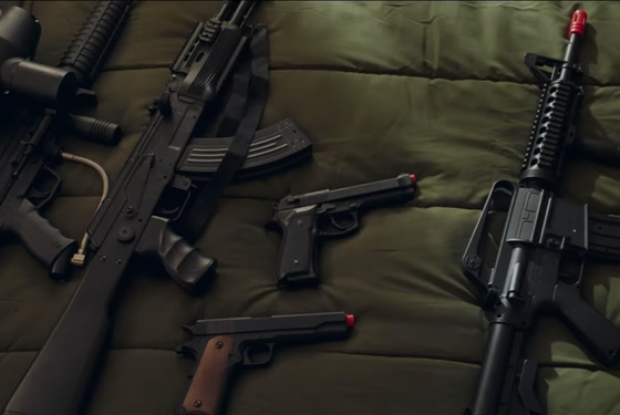 Young Spencer Stone's toy arsenal. What would Jesus pack?