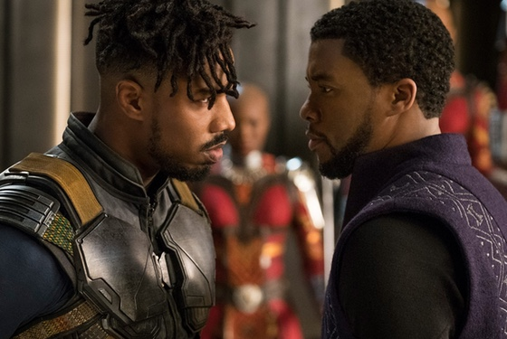 The traditional Wakandan staring contest: a ritual little seen by the outside world until now.