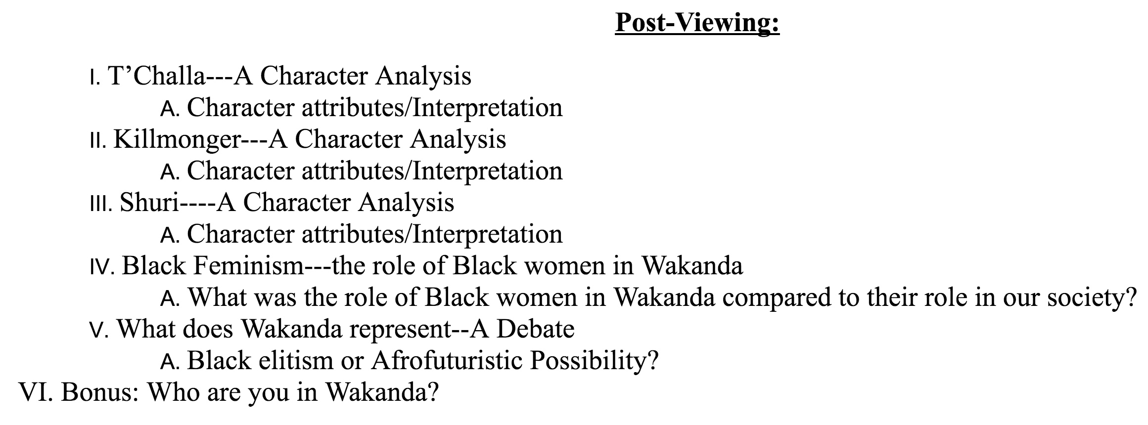 "curated: Tess Raser's ""Wakanda Curriculum"" for middle ..."