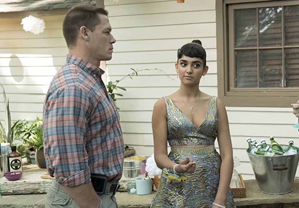The two best reasons to see this movie: John Cena and Geraldine Viswanathan, stealing it as father and daughter.