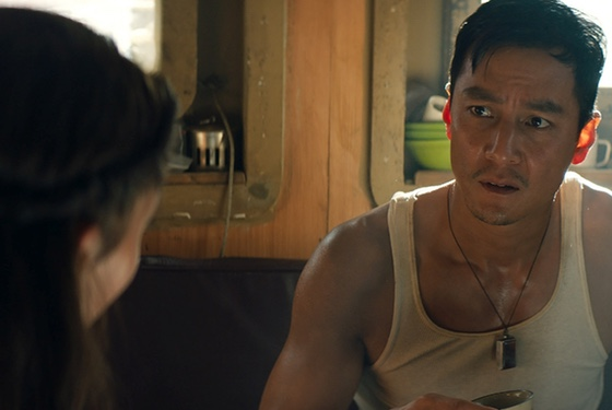 """You want me to be your sidekick? But... I'm a dude..."" (Daniel Wu as Lu Ren)"