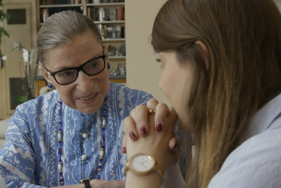 RBG with a recent law-school graduate: her granddaughter, Clara Spera.