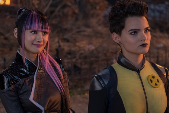 """""""I can't believe this smug asshole gets a second movie and so many awesome female characters can't even get one. I don't even mean us! Fuck this shit."""" Shioli Kutsuna as Yukio and Brianna Hildebrand as Negasonic"""