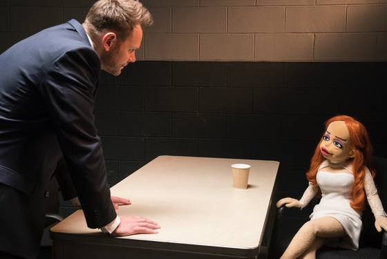 If you imagine that this scene is going to descend into a witless imitation of Sharon Stone's infamous interrogation in Basic Instinct, you are not wrong.