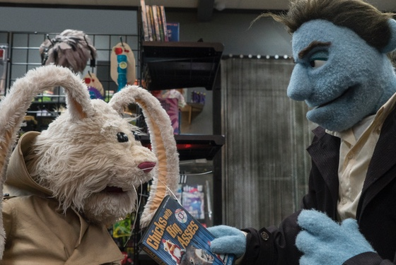 An alcoholic felt PI confronts a perverted stuffed bunny in a puppet porno shop. This movie is all class.